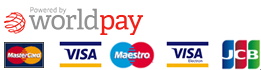 Payments by Worldpay: Visa, PayPal, MasterCard, Maestro, American Express