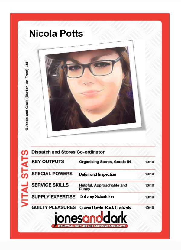 Nicola Potts (Despatch and Stores Co-Coordinator)